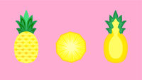 Pineapple Fruit Banner Vector