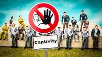 Street Sign to Freedom versus Captivity