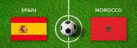 Football match Spain vs. Morocco