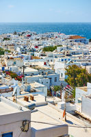 Panoramic view of of Mykonos town
