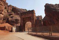 Entance of the Badami fort, North, Badami, Karnataka.