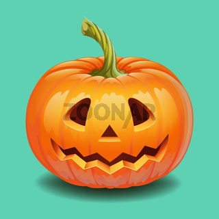 Halloween pumpkin face - funny smile Jack o lantern