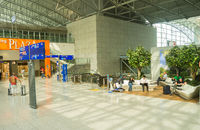 Frankfurt airport lounge zone people