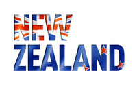 new zealand flag text font