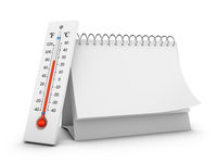 Thermometer and calendar