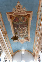Fresco painted inside the famous church of Our Lord of Bonfm