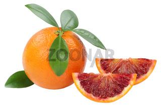 Blutorange Frucht Freisteller freigestellt isoliert