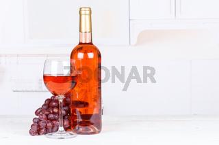 Rose Wein Rosewein Weintrauben Trauben Textfreiraum Copyspace