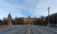 Munich - The Maximilianeum Building.