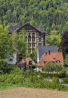 Blick Richtung ehemaliges Pilgerhotel beim Kloster der Erzabtei Beuron
