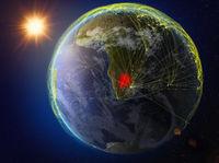 Botswana on Earth with network