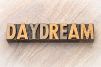 daydream word in wood type