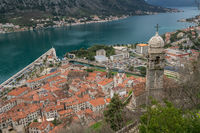 Kotor Bay and Old Town from above
