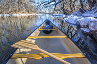 winter view from a canoe