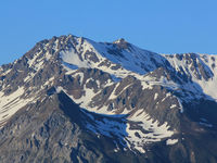 Parpaner Rothorn, high mountain in Canton of Grisons, Switzerland.