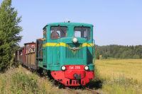 Vintage Diesel Locomotive on the Move