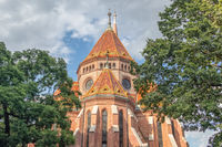 View of calvinist Reformed Church in Budapest Hungary