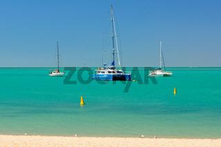 Yachts on anchor - Monkey Mia