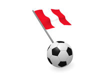 Soccer ball with the flag of Peru