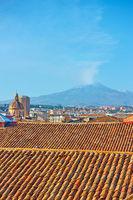 Catania and Mount Etna volcano