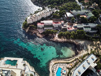 Luxury apartments and hotel with swimming pool, Mallorca, Spain