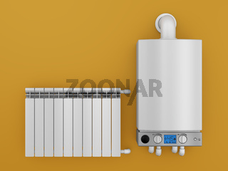 boiler and radiator