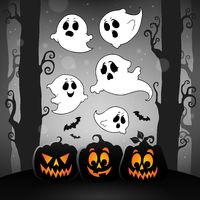 Halloween image with ghosts theme 4