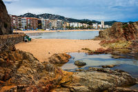 Lloret de Mar Town on Costa Brava in Spain