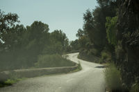 An empty highway in Mallorca, Spain