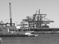 Dock cranes in Valencia, Spain.