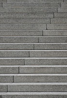Grey concrete stairs perspective