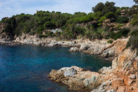Coastline of Mediterranean Sea in Lloret de Mar