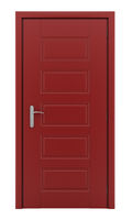 red door isolated on white background