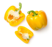 Yellow Peppers Isolated on White Background