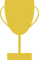 Gold Winners Trophy Vector