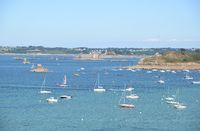 Boote bei Carantec, Bretagne