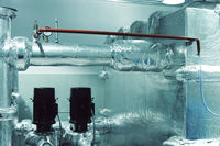 Thermal insulation of pipes with foil