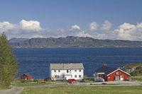 Bauernhof am Trondheimfjorden