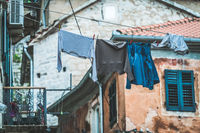 Laundry drying in the Old Town in Kotor