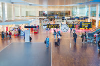 People Kastrup airport hall Copenhagen