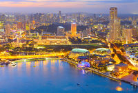 Singapore cityscape aerial view