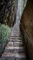 Treppe in der Schlucht