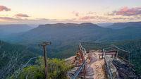 Lookout scenic views Blue Mountains Australia