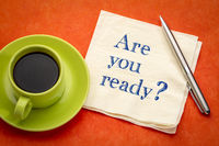 You are ready? A question on napkin.