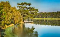 View of  Xuan Huong Lake, Dalat, Vietnam