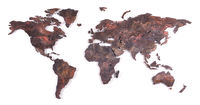 Roughly outlined world map - Bronze