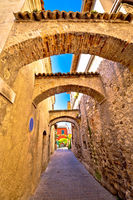 Street of Sirmione historic architecture view