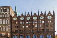 Rathaus mit Nikolaikirche, Stralsund, Deutschland, City hall with St. Nicholas Church, Stralsund, Germany