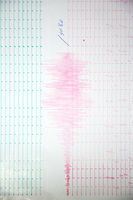 Earthquake wave on a graph paper