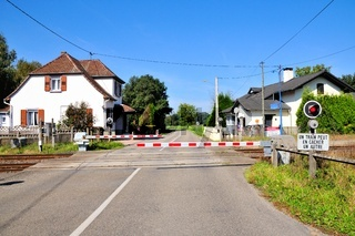 Railroad crossing Beinheim Alsace France